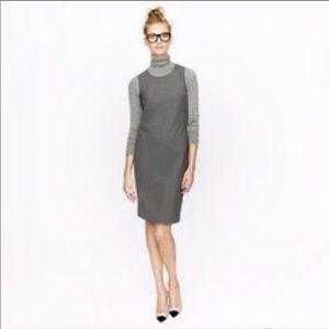 J. Crew Sleeveless Front Pleat Wool Shift Dress